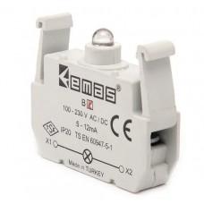 Блок-контакт подсветки с белым светодиодом 100-250 В AC EMAS BB