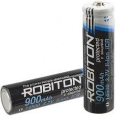 Аккумулятор Li-ion, 900mAh, 3.7V, с защитой (15х53мм) 14500/900 (A...